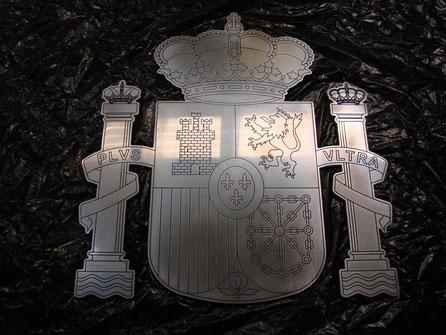Escudo Constitucional, Aluminio, para rodaje de cine.