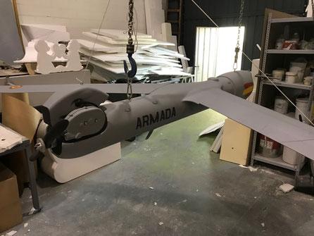 Modelo Dron Armada Española, 320 cm ala-ala, para exhibición en el Museo Naval, Madrid