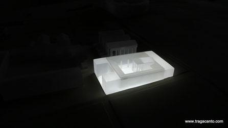 Elemento de Maqueta (Atrio) translúcida iluminada