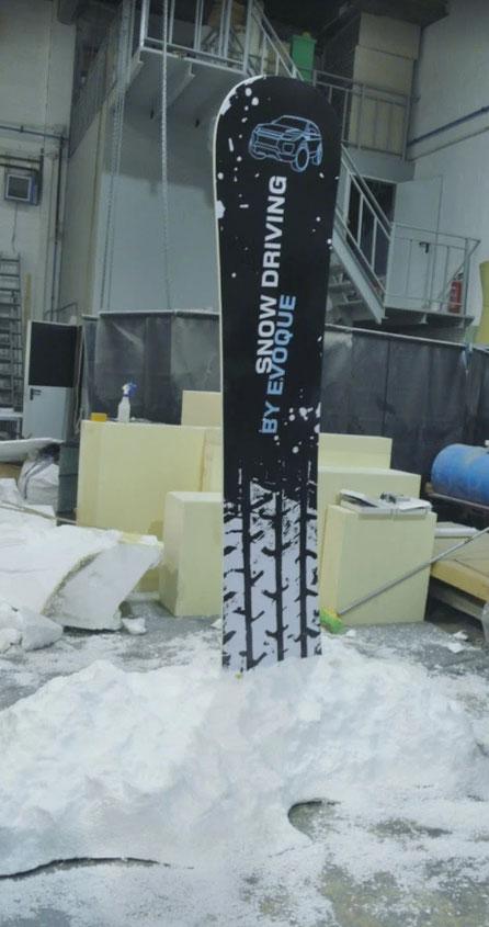 Pequeña escena de Nieve, reclamo para stand