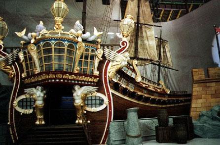 Galeón, como decorado de una Gala de Televisión. Palau Sant Jordi