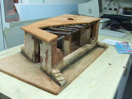 Maqueta Cabaña, seccionada