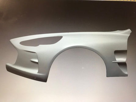 Modelo de coche a tamaño natural