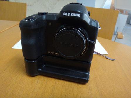 Ficticio de base de baterias para cámara Samsung (Serie TV)