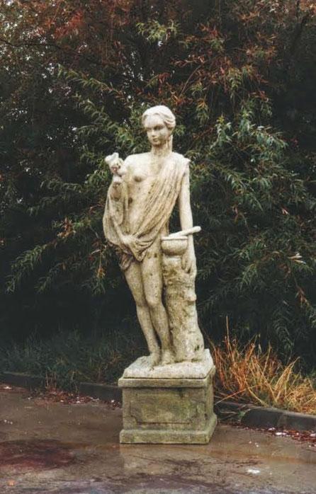 Estatua de jardín Tallada en poliespan, para decorado cine