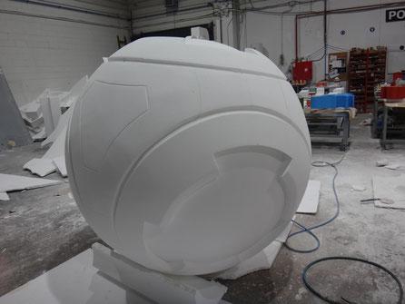 Mecanizado Gigante > Bola con diseño en relieve especial. diametro 200 cm