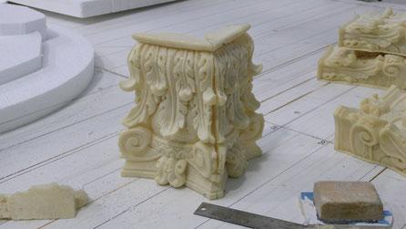 Capitel corintio para pilastras