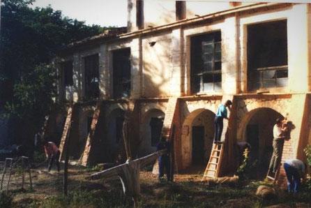 Construcción de Contrafuertes de Piedra, Ficticios en el Monasterio de Lupiana, Rodaje: La Celestina
