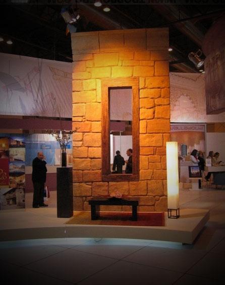 Murete de Piedra, Corporeo para Decoración de Stand en Fitur