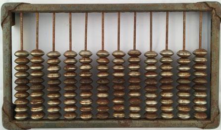 """Ábaco ruso """"schoty"""", 12 columnas de 10 bolas cada una, 22x13 cm, metal"""