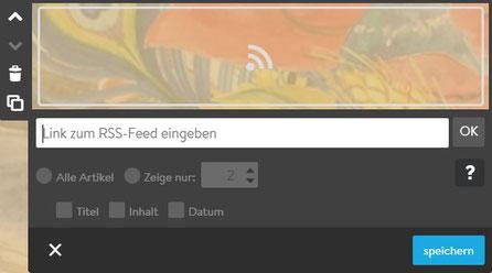 Screenshot Jimdo Creator RSS-Feed Widget
