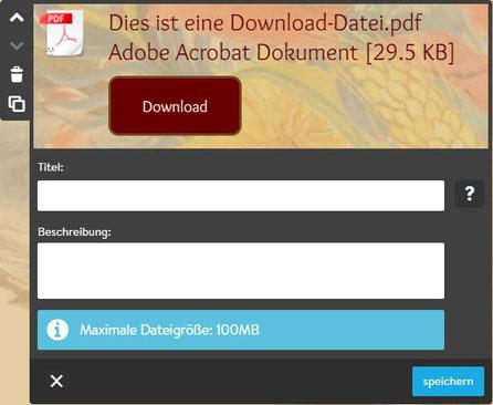 Screenshot Jimdo Creator Dateidownload