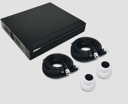 HDCVI, Videoüberwachungssset, 2MP, FullHD, Mini Dome, Innenkamera, DVR, Digitaler Videorekorder, Dahua, günstig, über SafeTech lieferbar