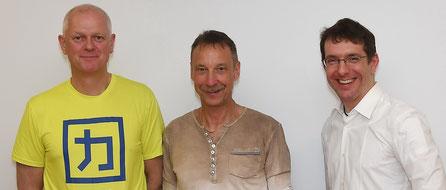 Robert Leithner, Michael Kraus und Sportmediziner Dr. Florian Wenk