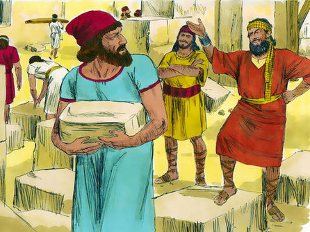 Les Juifs entreprennent avec enthousiasme la reconstruction du Temple dédié à Jéhovah. Mais ils se heurtent vite à une opposition farouche de la part des populations locales, les travaux sont arrêtés par le roi Bardiya (522) suite à de fausses accusations