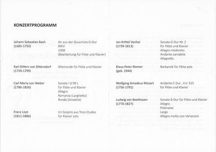 """Konzertprogramm """"Herbstliches Serenadenkonzert"""" コンサート・プログラム「秋のセレナーデ・コンサート」"""