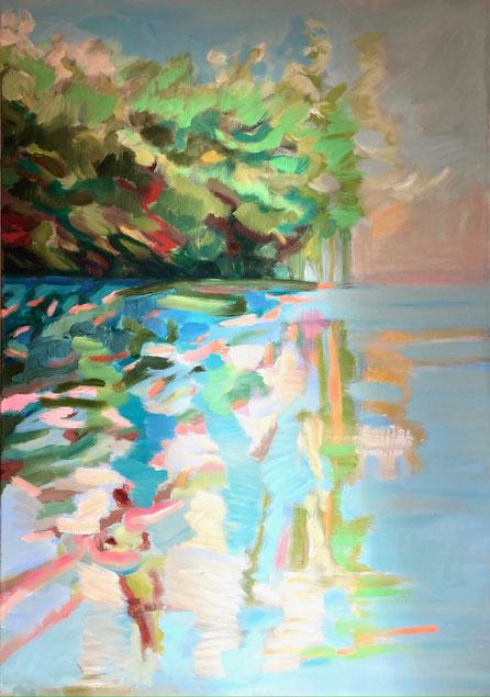 Ufer, 2021, Acryl auf Leinwand, 100x70