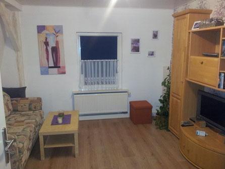 Wohnzimmer mit Sat TV und DVD inkl.DVD's , Auswahl an Gesellschaftsspielen, Doppel-Schlafcouch und ein Bett, Schreibtisch