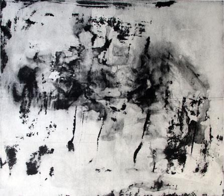 o.T. (Vierteilige Serie I), 2015, 73 x 97 cm gefaltete Radierung, offene Ätzung