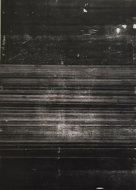 1,5-1,2 cm (V), 2017, 74,6 x 104cm, Holzschnitt auf Japanpapier