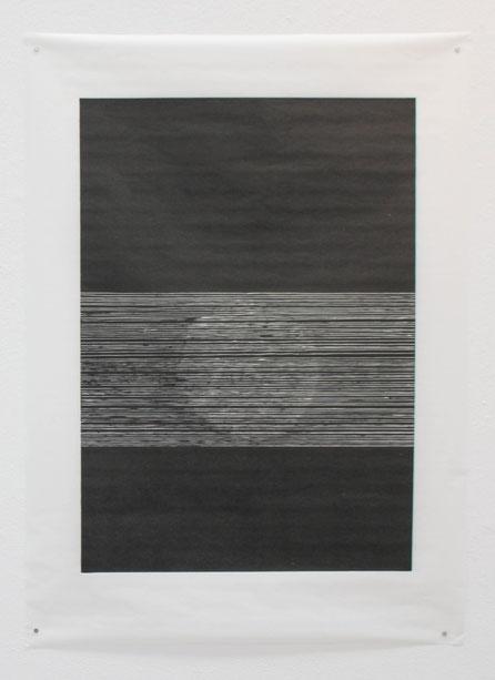 0,4-0,2 cm (II), 2018, 100 x 140 cm, Hochdruck auf Japanpapier