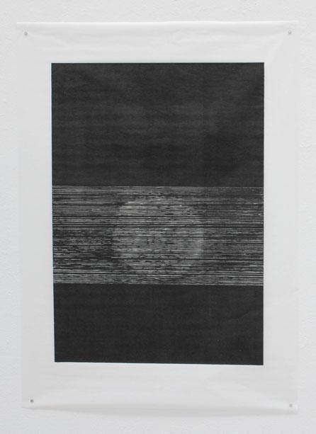 0,4-0,2 cm (III), 2018, 100 x 140 cm, Hochdruck auf Japanpapier