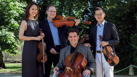 Le Quartet 212, composé par David Chan, Catherine Ro, Dov Scheindlin et Rafael Figueroa © DR