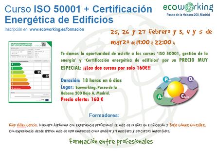 Cursos ISO 50001 + Certificación Energética