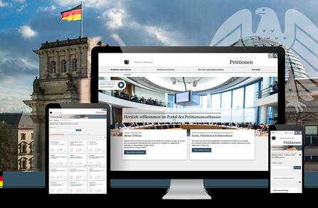 Webseite für Bundestag