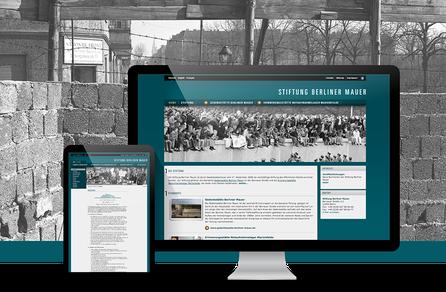 Webseite für Stiftung
