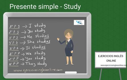 Presente simple en inglés - Conjugación - verbo Study