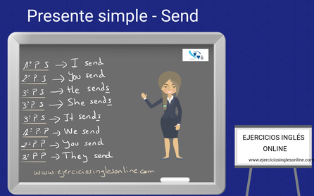 Presente simple en inglés - conjugación - verbo send