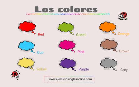 Los colores en ingles.