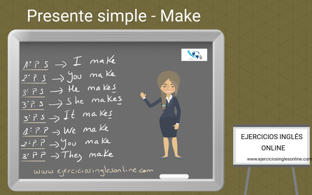 Presente simple en inglés - conjugación - verbo make