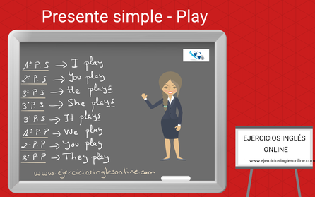 Presente simple en inglés - conjugación - verbo PLAY