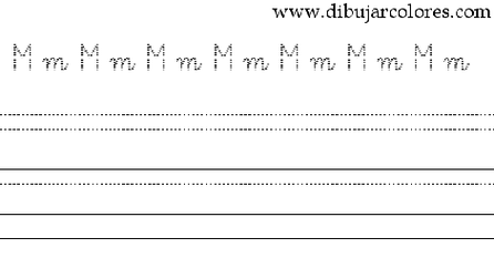 caligrafía con la letra eme