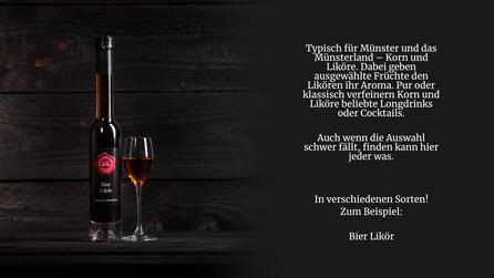 Bier Likör von der Genuss Hütte. Dieser Likör zeigt, was Bier alles kann! Leichte Süße kombiniert mit aromatischem Hopfen ergeben diese ganz besondere Spezialität aus dem Münsterland.
