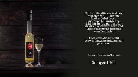 Orangen Likör von der Genuss Hütte aus dem Münsterland.Orangenlikör aus naturbelassenen Orangen. Stark und authentisch im Geschmack.