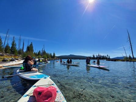 Stand Up Paddle Boarding on Waldo Lake, Oregon