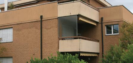 Kompaktfassade mit Aussenisolation 120mm, erbaut 2004