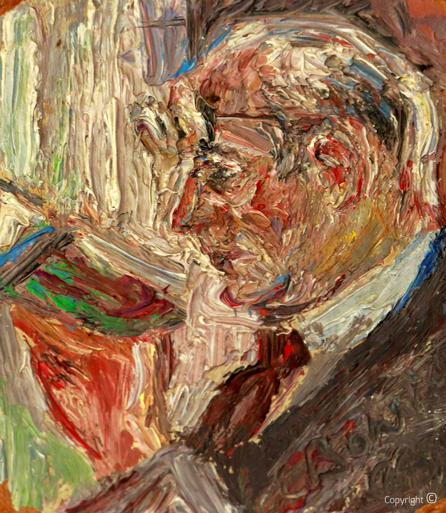 Erwin Bowien (1899-1972): Hanns Heinen beim Lesen, 1960