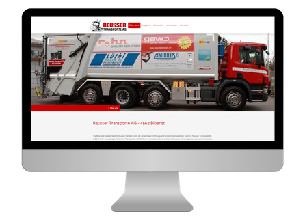 Neue responsive Webseite der Reusser Transporte AG in Biberist - CS Marketing responsive Webdesign