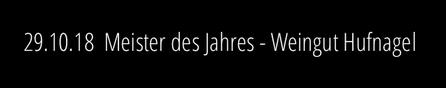 29.10.18: Presseinformation Hans-Jürgen Hufnagel ist Meister des Jahres