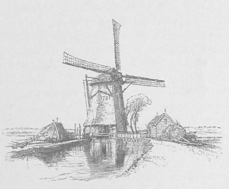 Windmühle Symbolbild aus dem 19. Jahrhundert