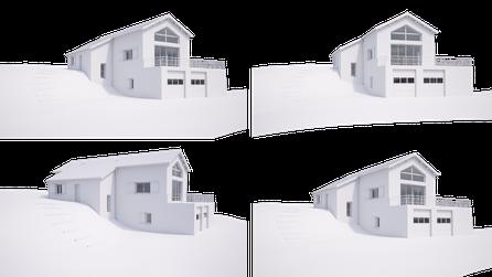 rendu 3D maquette blanche