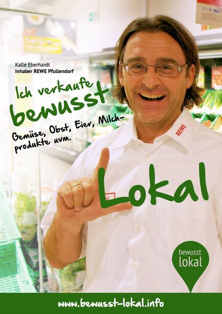 "Kalle Eberhardt, Inhaber Rewe Pfullendorf, verkauft ""bewusst lokal"""