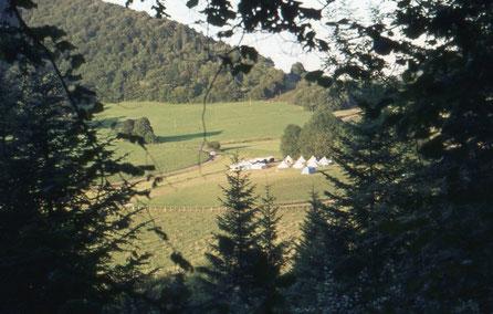 Das CVJM-Zeltlager in Glere/Frankreich
