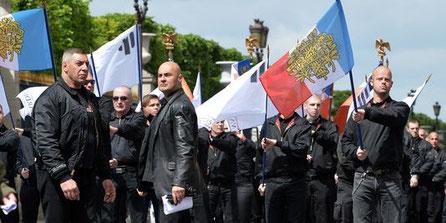 """Manifestation af """"Troisième Voie"""" , d 12. maj 2013 i Paris"""