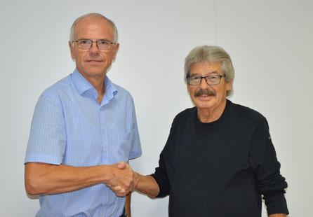 von Links: Dr. Heinz Pudleiner (SV Bayer 08) & Axel Garnatz (ASCD)