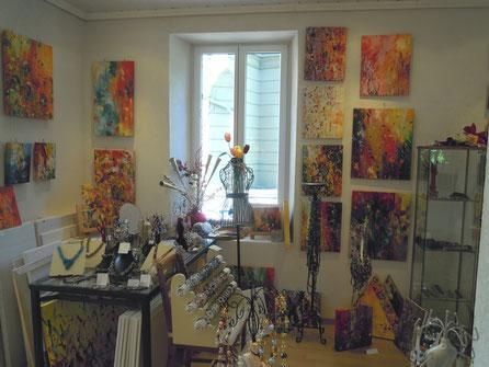Das Atelier von Innen